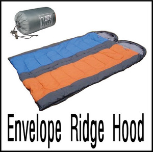 Envelope Sleeping Bag with Ridge Hood(3계절용)